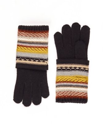 striped echo touch gloves