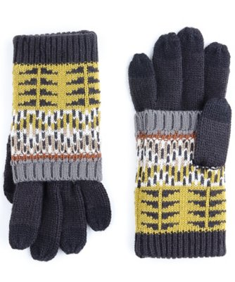 echo kid's pattern touch gloves