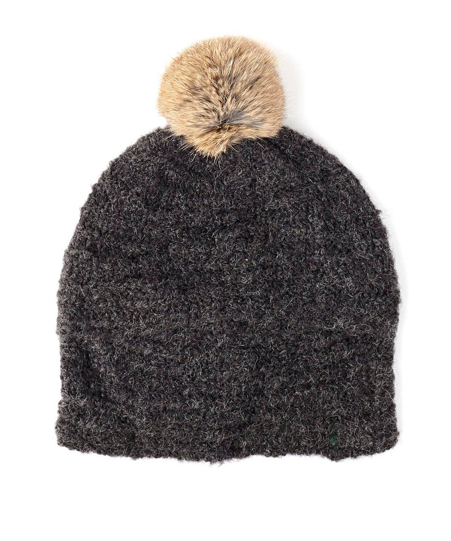 boucl? fur pom hat