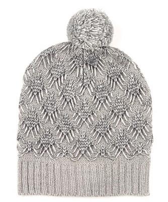 diamond stitch pom hat