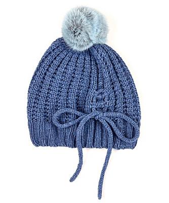 luxe rib fur pom hat