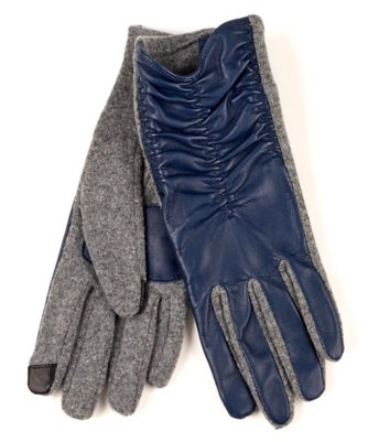 echo touch rouched leather glove