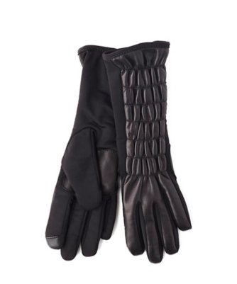 echo touch superfit gloves with rouched leather