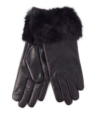 echo touch fur cuff glove