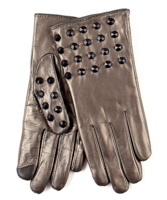 echo touch studded leather glove