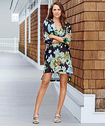 moire blossoms silky butterfly cover-up