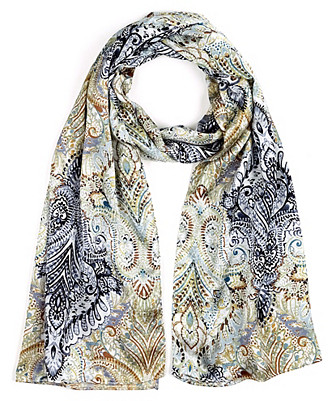 painted paisley scarf