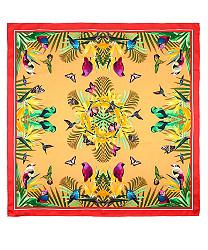 birds of paradise silk square scarf