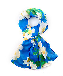 bright ground floral wrap