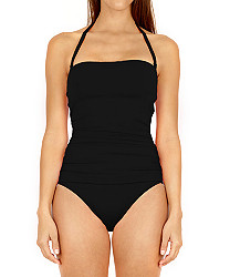 Solid Ruched One Piece