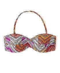 chevron twist bikini top
