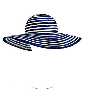 metallic ribbon floppy hat