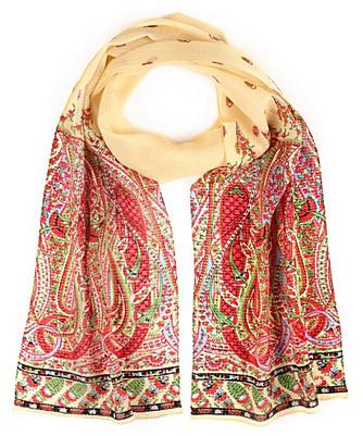 festival paisley silk scarf