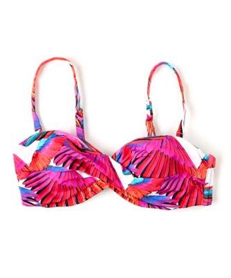birds of paradise twist bandeau bikini top