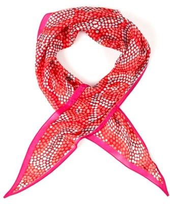 pointillist mosaic diamond scarf