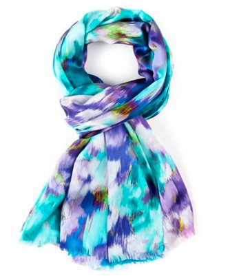 flowers in the wind scarf