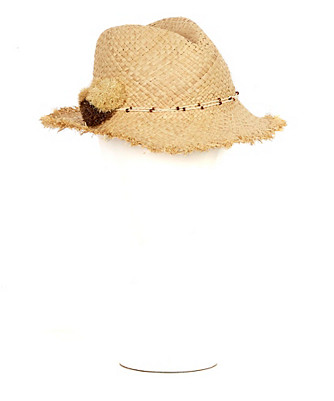 frayed casablanca hat