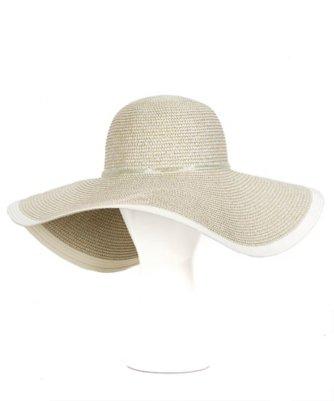 metallic floppy hat
