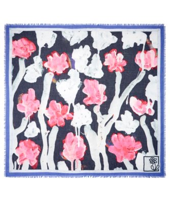 michael de feo dripping floral square scarf