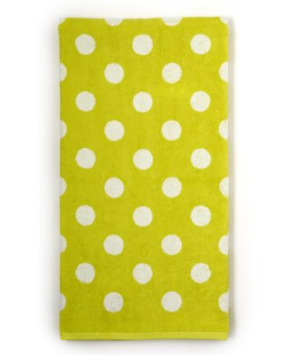 dottie bath towel in limeade