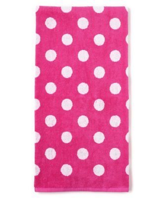 dottie bath towel in carmine rose
