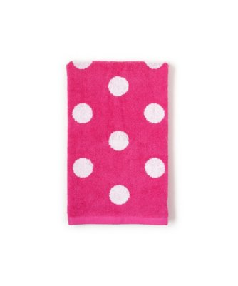 dottie hand towel in carmine rose
