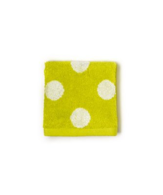dottie wash cloth in limeade