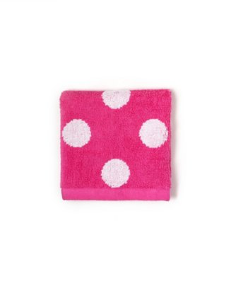 dottie wash cloth in carmine rose