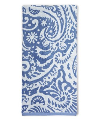 marrakesh bath towel in classic blue