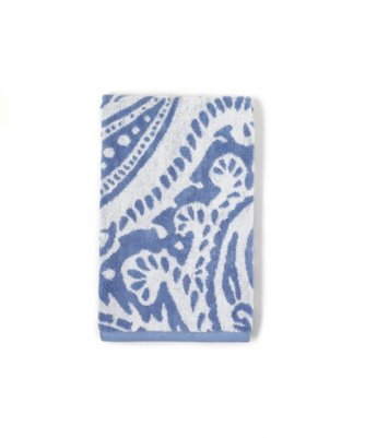marrakesh hand towel in classic blue