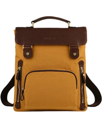 monsac nylon and leather backpack